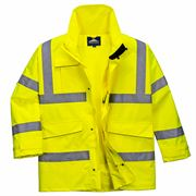 Waterproof Breathable Hi Vis Class 3 Yellow Extreme Parka Jacket - 200gsm