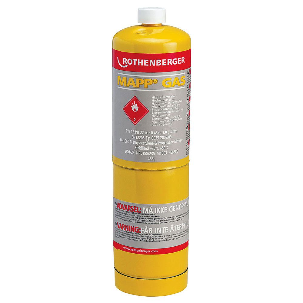 Rothenberger MAPP Gas Cylinder - 453g