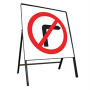 No Right Turn Riveted Square Metal Road Sign - 750mm