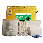 Ecospill Oil Only Spill Response Kit - 4 Wheel PE Bin - 600 Litre