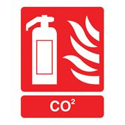 Fire Extinguisher, CO2 Sign - 95 x 220 x 1mm
