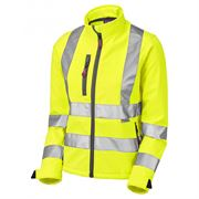 Leo Honeywell Women's Hi Vis Class 2 Yellow Softshell Jacket