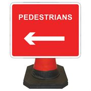 Hangman Pedestrians Left Cone Sign - 600 x 450mm