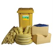 Ecospill Chemical Spill Response Kit - 2 Wheel PE Bin - 360 Litre