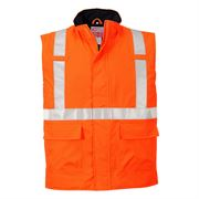 Rail Flame Retardant Anti Static Waterproof Hi Vis Class 2 Orange Body Warmer