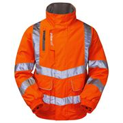 Pulsarail Rail Waterproof Hi Vis Class 3 Orange Bomber Jacket