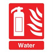 Fire Extinguisher, Water Sign - 95 x 220 x 1mm