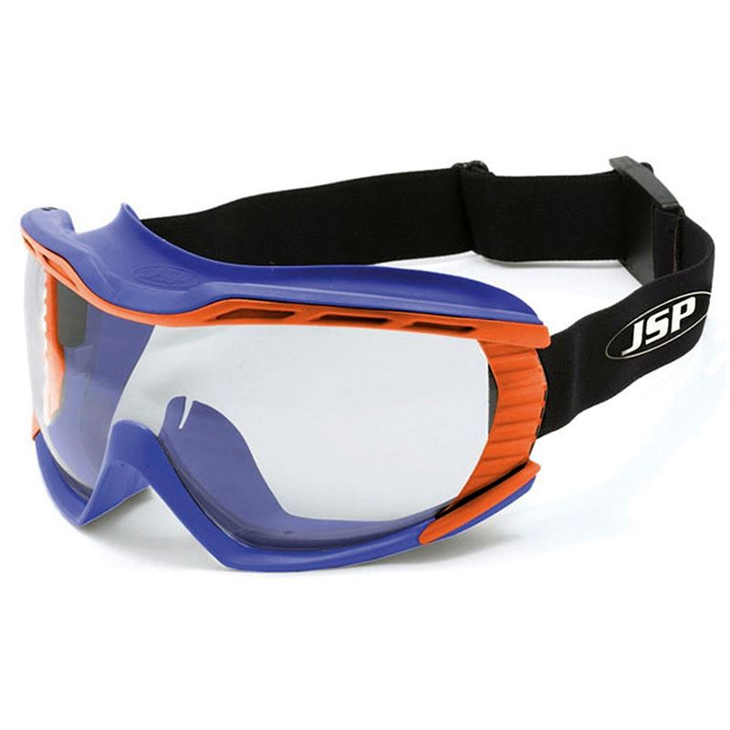 JSP Stealth 9100 Safety Goggles - Blue / Orange N Rated