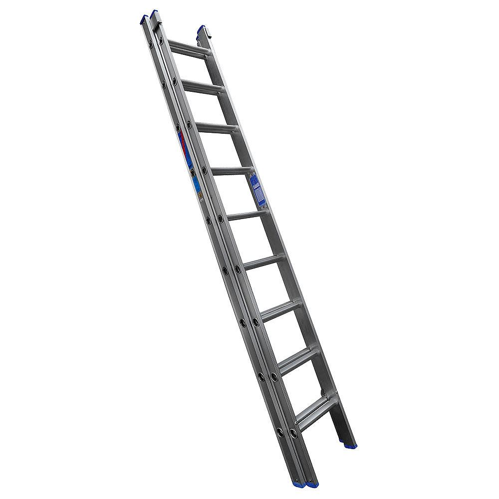 Heavy Duty D Rung Class 1 Aluminium Ladder - Dual Section Extension