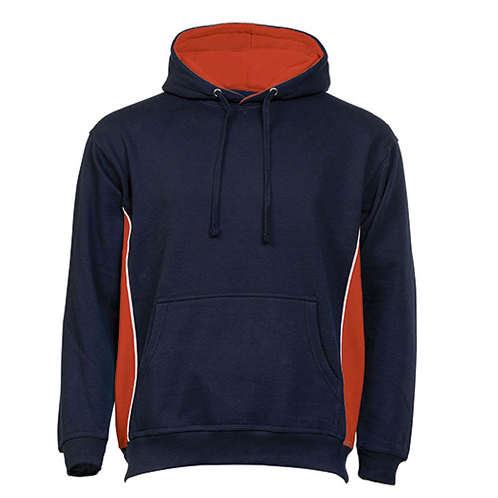 Orn Two Tone Hooded Sweat Shirt - 320gsm - Navy/Red