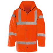 Super-Dri Rail Waterproof Hi Vis Class 3 Orange Parka Jacket