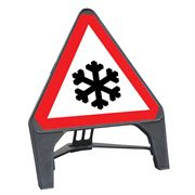 CuStack Ice Triangular Sign - 750mm