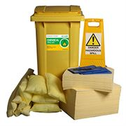 Ecospill Chemical Spill Response Kit - 2 Wheel PE Bin - 240 Litre