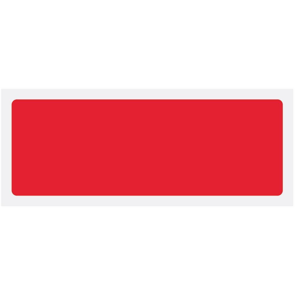 Red Blank Rigid Plastic Sign - 600 x 200mm