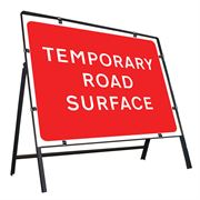 Temporary Road Surface Clipped Metal Road Sign - 1050 x 750mm