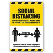 Social Distancing Self Adhesive Vinyl - 200mm x 300mm