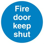 Fire Door Keep Shut Sign - 100 x 100 x 1mm