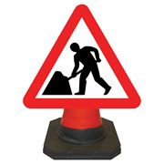 Hangman Men at Work Roadworks Cone Sign - 750mm