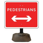 Louis Pedestrians Left / Right Reversible Sign - 600 x 450mm