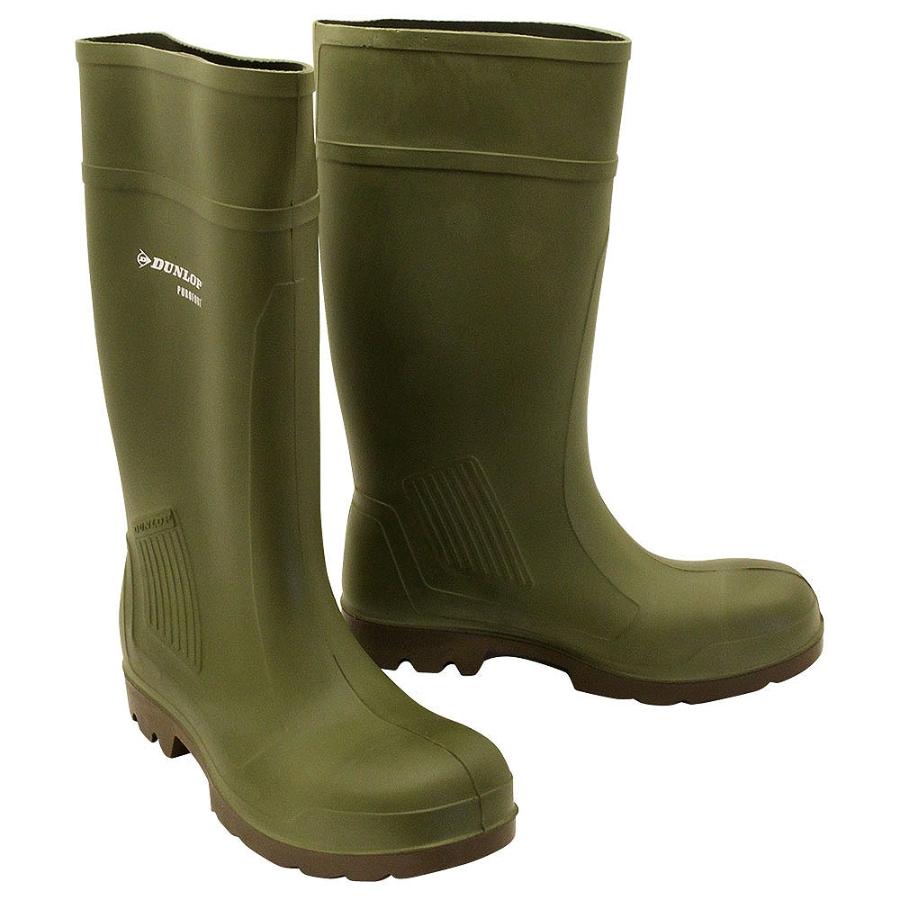 Dunlop Purofort Green Safety Wellington