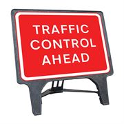 CuStack Traffic Control Ahead Sign - 1050 x 750mm