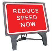 CuStack Reduce Speed Now Sign - 1050 x 750mm