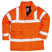 Rail Flame Retardant Anti Static Waterproof Hi Vis Class 3 Orange Jacket