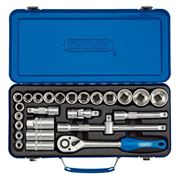 Draper Expert 26 Piece Metric Socket Set - 1/2 inch Square Drive