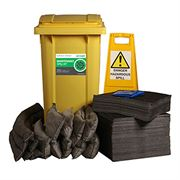 Ecospill Maintenance Spill Response Kit - 2 Wheel PE Bin - 240 Litre