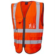 Leo Barnstaple Rail Hi Vis Class 2 Orange Superior Waistcoat