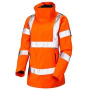 Leo Rosemoor Ladies' Rail Waterproof Breathable Hi Vis Orange Jacket