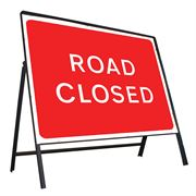 Road Closed Riveted Metal Road Sign - 1050 x 750mm