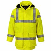 Multi Lite Flame Retardant Anti Static Waterproof Hi Vis Class 3 Yellow Jacket