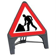 CuStack Men at Work Roadworks Triangular Sign - 600mm