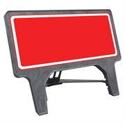 CuStack Red Face, White Border Sign - 1050 x 450mm
