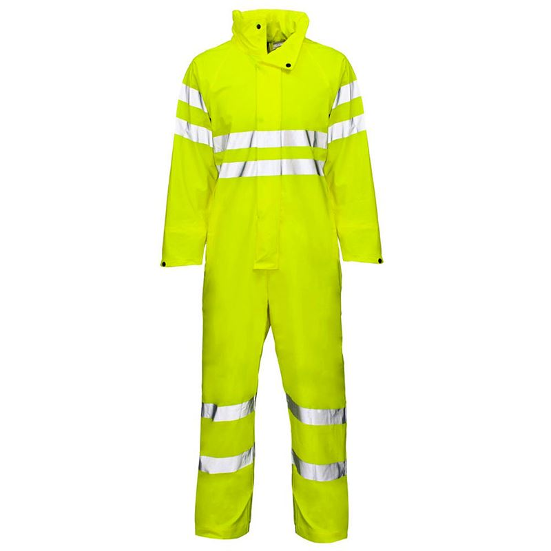 Super-Dri Waterproof Hi Vis Breathable Coverall - Class 3 - Yellow