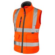 Leo Sandymere Women's Rail Hi Vis Orange Body Warmer