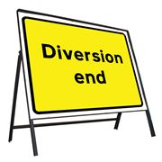 Diversion End Riveted Metal Road Sign - 1050 x 750mm